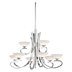 Kichler Kichler 43023Ch Chrome Brooklands 2-Tier  Chandelier With 9 Lights