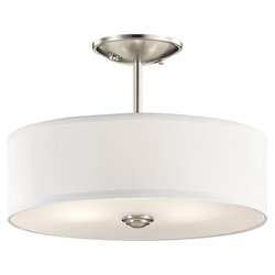 Kichler Brushed Nickel Shailene 3 Light Semi-Flush Ceiling Light
