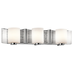 Kichler Chrome Selene 24In. Wide 3-Bulb Bathroom Fixture