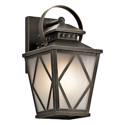 Kichler Olde Bronze Hayman Bay Collection 1 Light 13In. Outdoor Wall Light