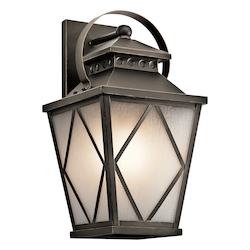 Kichler Olde Bronze Hayman Bay Collection 1 Light 21In. Outdoor Wall Light