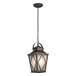 Kichler Olde Bronze Hayman Bay 1 Light Outdoor Pendant Light