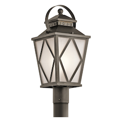 Kichler Olde Bronze Hayman Bay 1 Light Outdoor Post Light