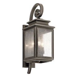 Kichler Olde Bronze Wiscombe Park 3 Light 21.75In. Outdoor Wall Light