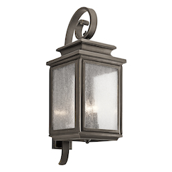 Kichler Olde Bronze Wiscombe Park 4 Light 30.5In. Outdoor Wall Light