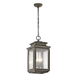 Kichler Olde Bronze Wiscombe Park 4 Light Outdoor Full Sized Pendant