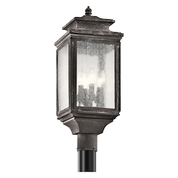 Kichler Four Light Weathered Zinc Post Light