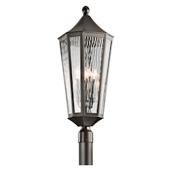 Kichler Olde Bronze Rochdale 4-Bulb Post Light