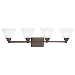 Kichler Four Light Olde Bronze Vanity