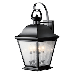 Kichler Black Mount Vernon Collection 4 Light 28In. Outdoor Wall Light