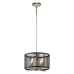 Kichler Polished Nickel Titus 4 Light 14.25In. Wide Pendant With Metal Shade