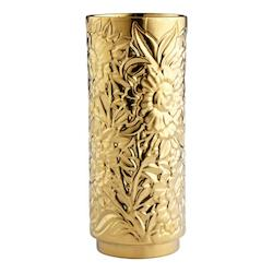 Cyan Designs Gold Carnation 12 Inch Tall Ceramic Vase