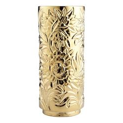 Cyan Designs Gold Carnation 18.25 Inch Tall Ceramic Vase