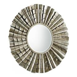 Cyan Designs Silver 7 Inch Diameter Farley Iron and Wood Mirror