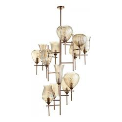 Cyan Designs Satin Copper Darcey 13 Light 13 Tier Chandelier