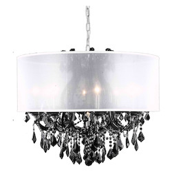 Elegant Lighting Dining Room Chandelier Black