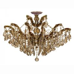 Crystorama Maria Theresa 6 Light Golden Teak Elements Semi-Flush