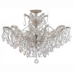 Crystorama Maria Theresa 6 Light Elements Crystal Chrome Semi-Flush Ii