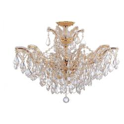 Crystorama Maria Theresa 6 Light Elements Crystal Gold Semi-Flush