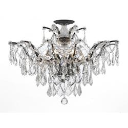 Crystorama Filmore 6 Light Swarovski Bronze Semi-Flush