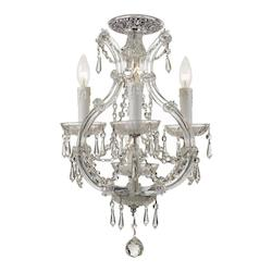 Crystorama Maria Theresa 4 Light Elements Crystal Chrome Ceiling Mount I
