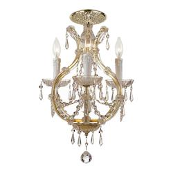 Crystorama Gold Maria Theresa 4 Light Semi-Flush Ceiling Fixture