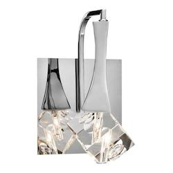 Elan Chrome Rockne 1 Light Bathroom Sconce