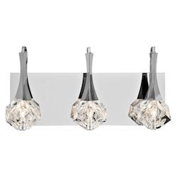 Elan Chrome Rockne Vanity Light