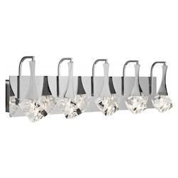 Elan Chrome Rockne Large Vanity Light