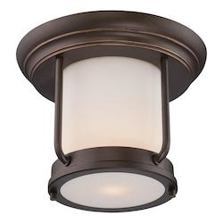 Nuvo Bethany - Led Outdoor Flush Fixture W/ Satin White Glass