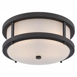 Nuvo Willis - Led Outdoor Flush Fixture W/ Antique White Glass