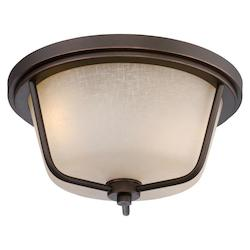 Nuvo Tolland - Led Outdoor Flush Fixture W/ Champagne Linen Glass