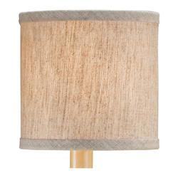 Currey Large Natural Linen Shade Measuring 5 X 5 X 5
