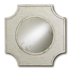 Currey Natural / Antique White Endsleigh Mirror
