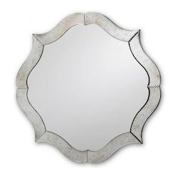 Currey Silver / Antique Mirror 30in. Diameter Monteleone Mirror