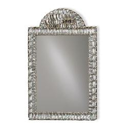 Currey Natural Shell Abalone 34in.H Rectangular Mirror from the Hayes Parker Collection