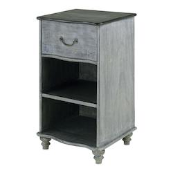 Currey Burnt Coal / Vintage Steel 32in. Whitmore Night Stand
