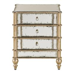 Currey Antiqued Mirror Sideboard