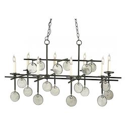 Currey Sethos 8 Light Rectangular Chandelier