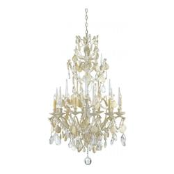 Currey Natural Buttermere 6 Light Small Chandelier With Optional Customizable Shades