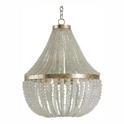 Currey Silver Granello Chanteuse 3 Light Chandelier