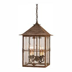 Currey Bark Brown Bellamy Lantern