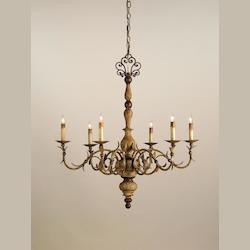 Currey Contemporary Gold Leaf / Seaglass Bayou 3 Light 19in. Wide Chandelier