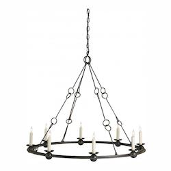 Currey Old Iron Rooney 8 Light Chandelier