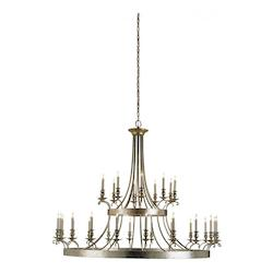 Currey Antique Gold Leaf Lodestar Chandelier With Customizable Shades
