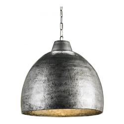 Currey Blackened Steel Earthshine 1 Light Pendant with Hammered Metal Shade