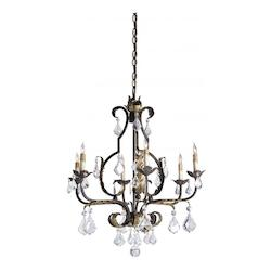 Currey Venetian/Gold Leaf/Swarovski Crystal Chandelier, Large with Customizable Shades