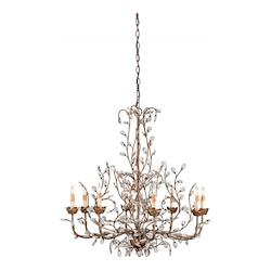 Currey Cupertino Crystal Bud Chandelier, Large  with Customizable Shades
