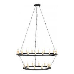 Currey Blacksmith Toulouse 30 Light Chandelier