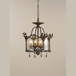 Currey Viejo Gold/ Viejo Silver Zara Foyer Pendant with Customizable Shades